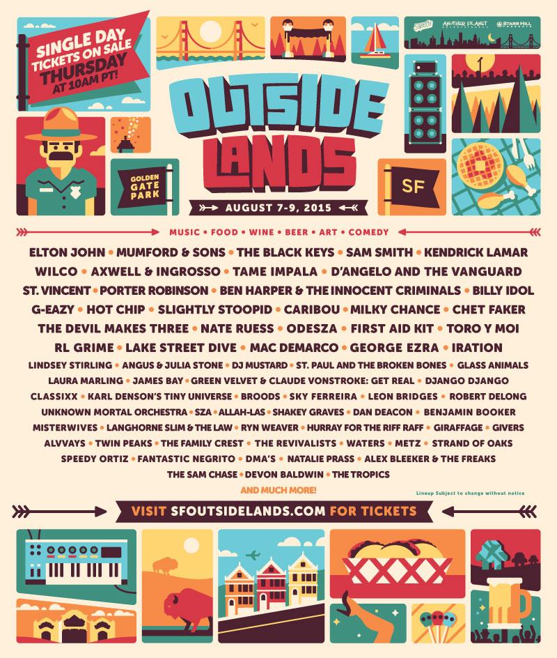 Outside Lands Festival 2015 Poster